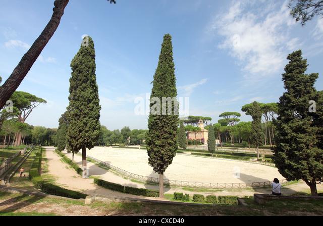 Italy, Rome, Rom, Roma, city, villa Borghese, park, piazza di Siena - Stock Image