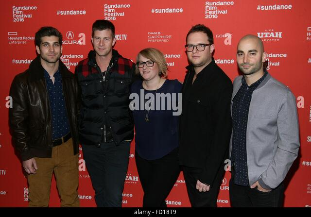 Park City, UT, USA. 26th Jan, 2016. David Bernon, Paul Bernon, Mel Eslyn, Sam Slater, Sev Ohanian at arrivals for - Stock Image