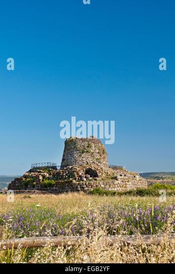 Torralba,Sassari,Sardinia,Italy, 17/6/2013.Santu Antine Nuraghe tower is consider the biggest and most important - Stock Image