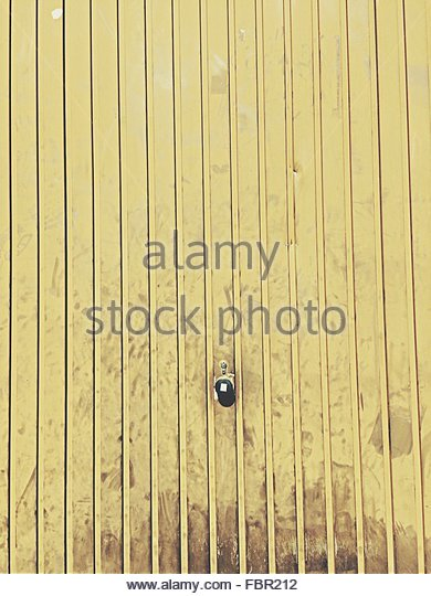 Detail Shot Of Yellow Wall - Stock Image