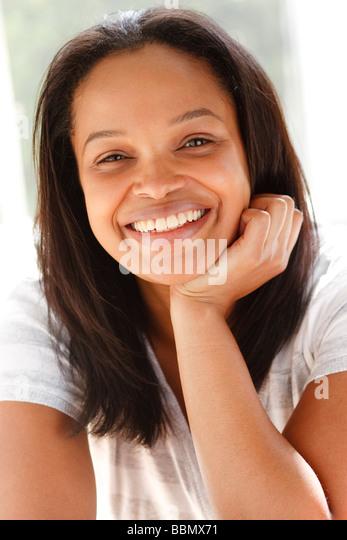 Ethnic woman portrait - Stock Image