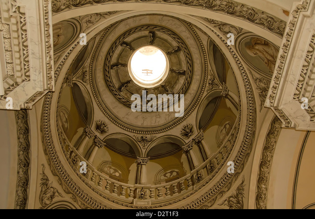 Domed ceiling of the Old San Juan Cathedral or Catedralof San Juan Bautista, Puerto Rico - Stock Image