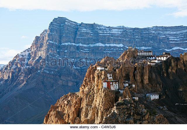 Dhankar Monastery, Spiti Valley, Himachal Pradesh, India - Stock-Bilder