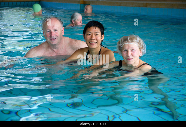 hot tub elderly stock photos hot tub elderly stock images alamy. Black Bedroom Furniture Sets. Home Design Ideas