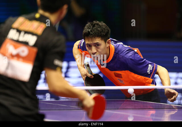 Suzhou International Expo Centre, Suzhou, China. 3rd May, 2015. Fang Bo (CHN), MAY 3, 2015 - Table Tennis : 2015 - Stock-Bilder