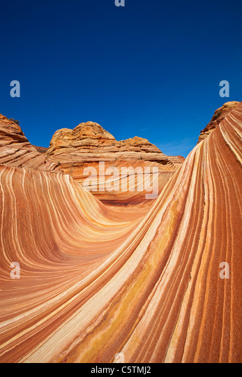 USA, Utah, North Coyote Buttes, The wave - Stock Image