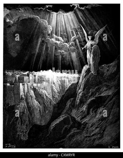 The angel shows John of Jerusalem - Stock Image