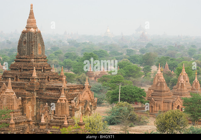 Ancient city of bagan in burma - Stock-Bilder