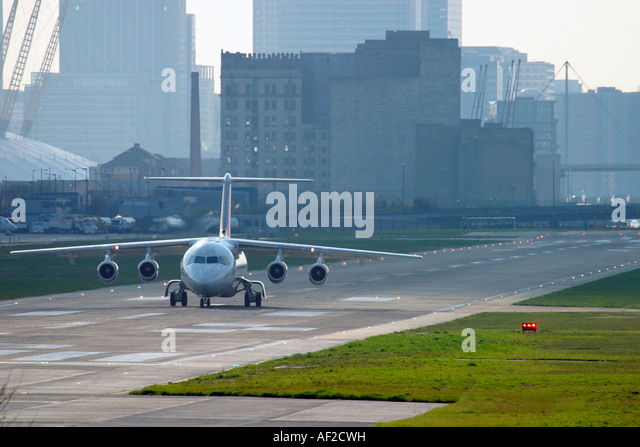 Regional plane jet on runway - Stock Image