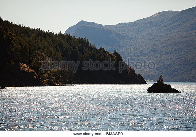 Lake and landscape in argentina - Stock Image