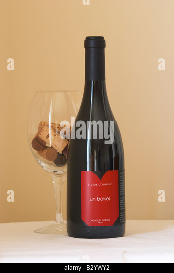 le clos d'amour, un baiser, vignobles dornier. Roussillon, France - Stock Image