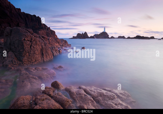 Corbiere Lighthouse, Jersey, Channel Islands, UK - Stock Image