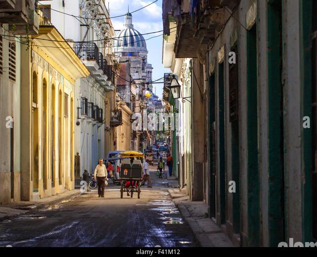 Caribbean Cuba Havana street life 13 - Stock Image