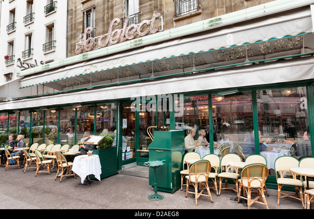 Le Select brasserie Montparnasse Paris, France - Stock Image