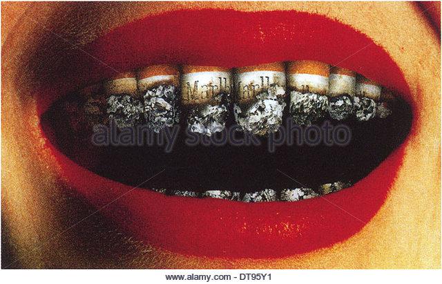 Anti-Smokers poster, 1999. Artist: Faldin, Alexander Vladimirovich (*1953) - Stock Image