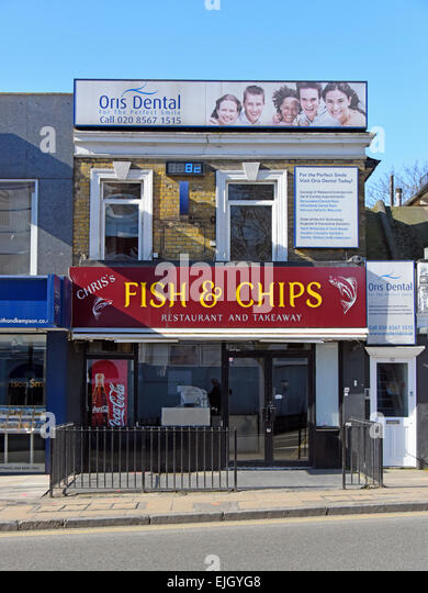 Ealing street stock photos ealing street stock images for Oak city fish and chips