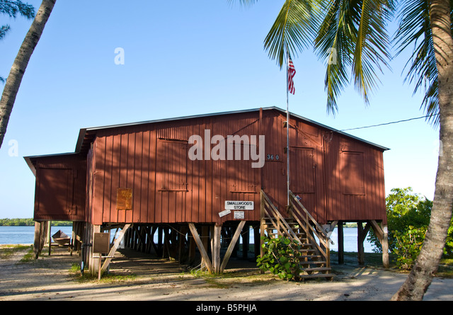 florida heritage trail Historic Smallwood Store old trading post Chokoloskee fl Everglades National Park - Stock Image