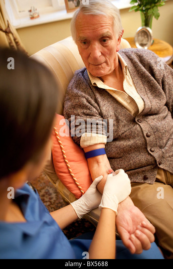 Taking a blood sample - Stock Image