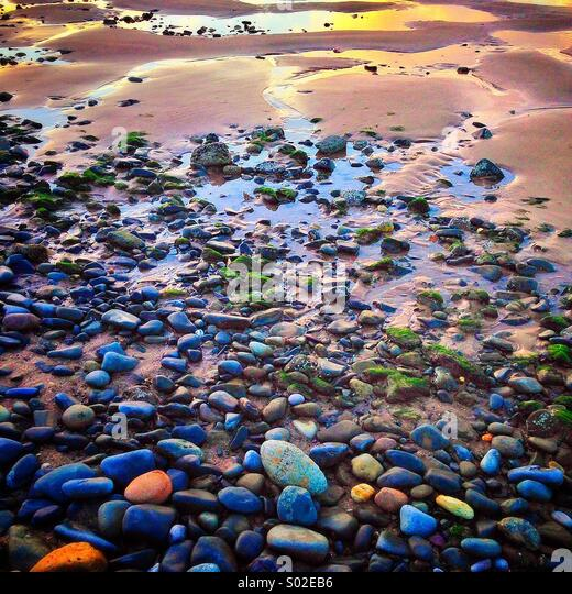 From stones to sand... - Stock-Bilder