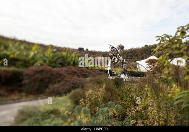 WEEE Man at the Eden Project. - Stock Image