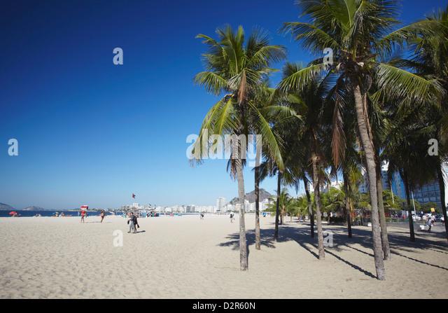 Copacabana beach, Rio de Janeiro, Brazil, South America - Stock Image