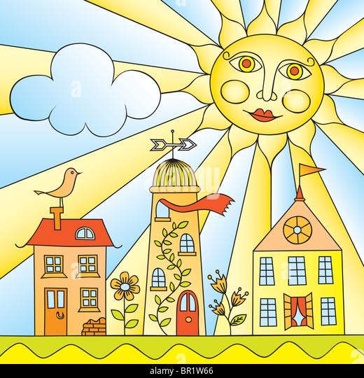 City under Sun - Stock-Bilder
