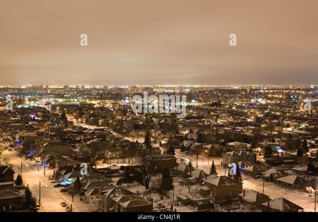 Toronto cityscape at dusk - Stock Image