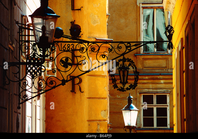 street in Vienna Austria - Stock Image