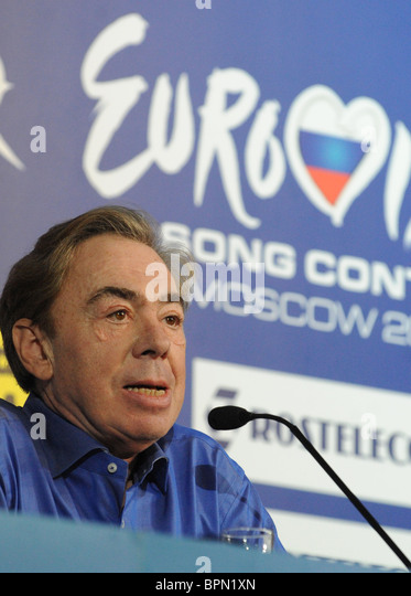 British composer Andrew Lloyd Webber gives press conference - Stock Image