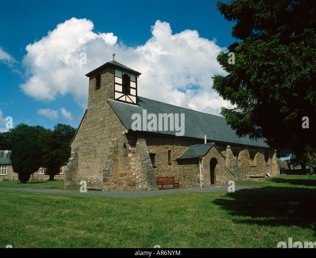 Village church Shropshire, UK. - Stock Image