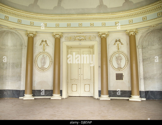 Bright interior of the ancient architecture master piece - Stock Image