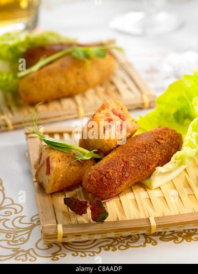 Spanish ham croquettes - Stock Image