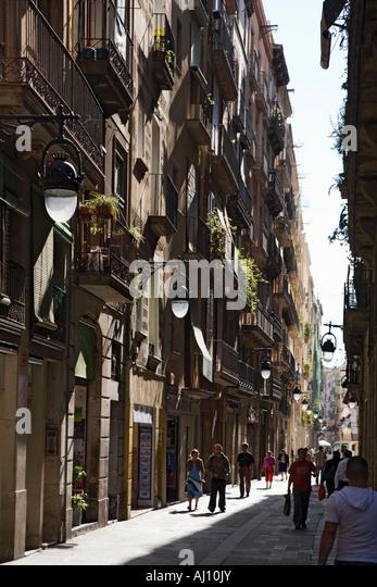 Spain Barcelona Raval old city center - Stock Image