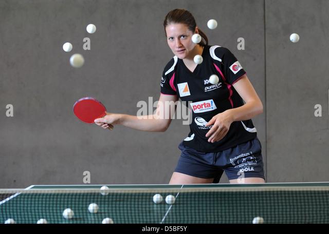Berlin, Germany, table tennis player Irene Ivancan - Stock Image