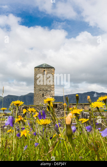 Remains of a monastery at Selje, Nordland, Norway, Scandinavia, Europe - Stock Image