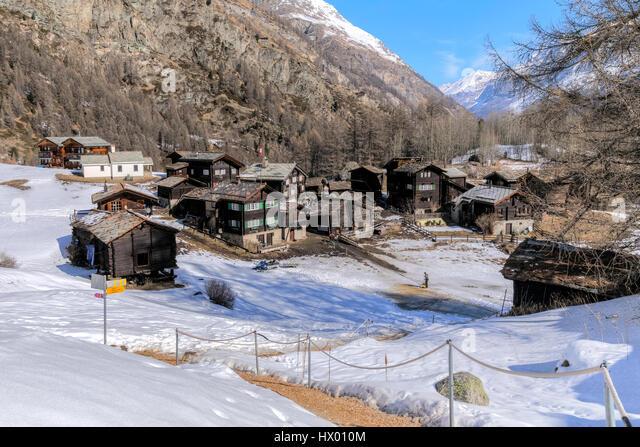 Zum See, Zermatt, Valais, Switzerland, Europe - Stock-Bilder