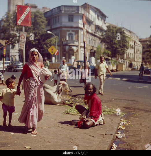 Indien, Straßenszene in Bombay - Stock-Bilder