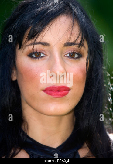portrait of a young Iranian woman - Stock Image