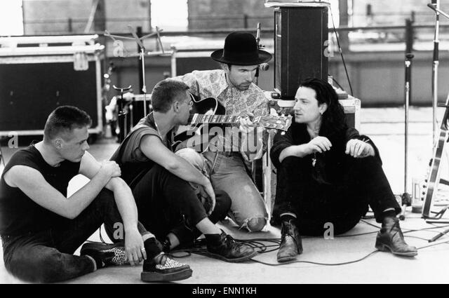 U2 Rattle and Hum, USA 1988, Regie: Phil Joanou, Darsteller: Band U2, (Bono Vox / Paul David Hewson /, The Edge - Stock Image