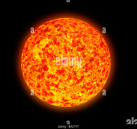 Illustration of sunspot activity as one might see it through a spectroscope Square - Stock Image