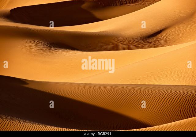 Sahara desert sand dunes - Stock Image