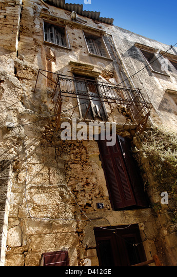 An old building in Chania, Crete - Stock Image