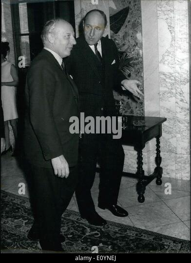 Dec. 04, 1970 - German Minister of Foreign Affairs, Mr. Walter Scheel, and Dutch Minister of Foreign Affairs, Mr. - Stock Image