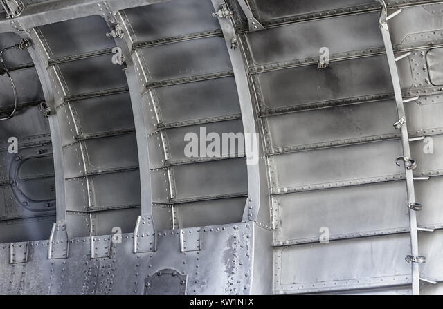 Aircraft fuselage from inside - Stock Image