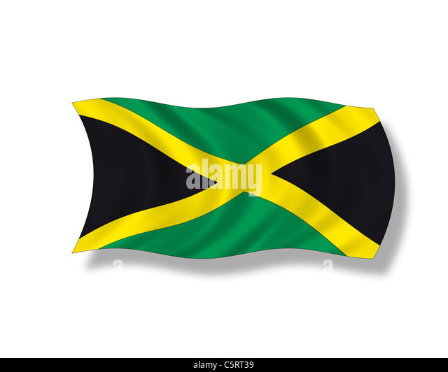 Illustration, Flag of Jamaica - Stock Image