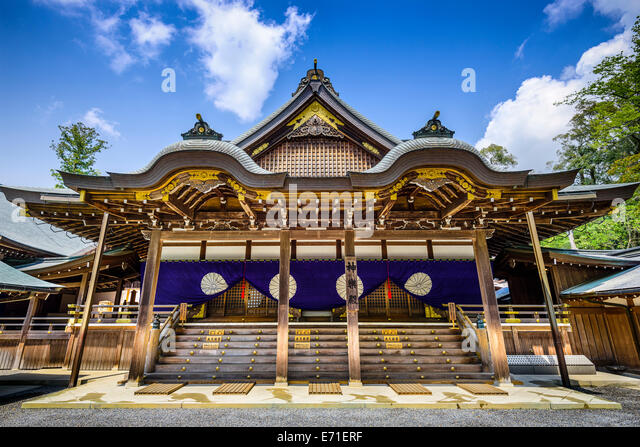 Ise Shrine building in Ise, Japan. - Stock Image