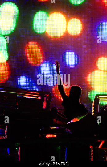 A concert of electronic music 2 - Stock Image
