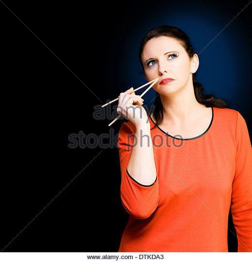 Beautiful Middle Manager Business Woman Thinking Of Ideas To Break Into The Lucrative Asia Business Market While - Stock Image