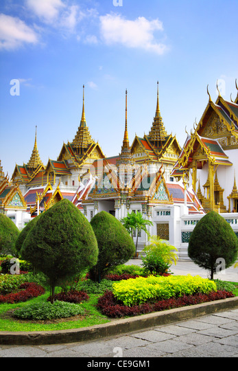 Complex of The Grand Palace in Bangkok, Thailand - Stock Image