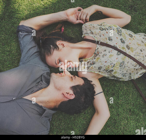 Couple Togetherness Love Paasion Relaxation Concept - Stock Image